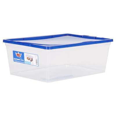 Caja organizadora 10 litros 38x26x13 cm azul - Caja plastico con tapa ...