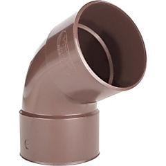 Codo P25 de 67,5° PVC para tubo bajada, marrón