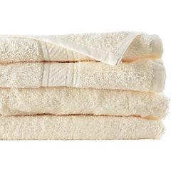 Juego de toallas de baño y mano 360 gr 2 unidades Crema