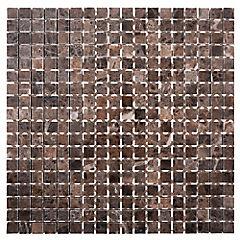 Malla Mosaico 30.5 x 30.5 cm Emperador Pulido