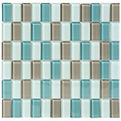 Malla Mosaico Vidrio 30 x 30 cm Acqua