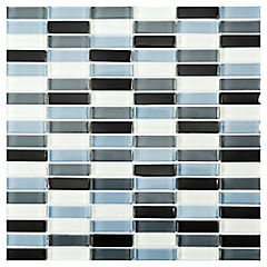 Malla Mosaico Vidrio 30 x 30 cm Océano