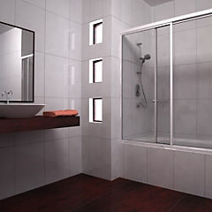 Mampara para tina 150x130130 cm vidrio templado