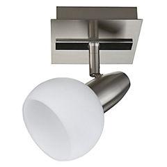 Foco Bianco 1 luz Plateado-Blanco