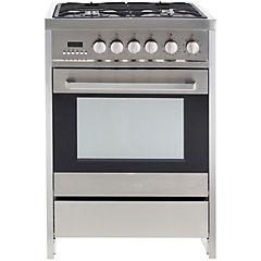 Cocina a gas 4 quemadores 57 litros plateado