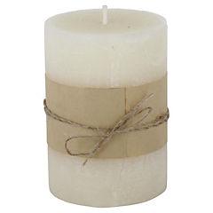 Vela decorativa Rafia crema
