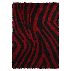 Alfombra 160X230 cm Animal Print Rojo/negro