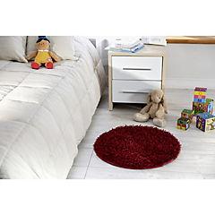 Alfombra redonda Shaggy 60 cm rojo