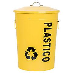 Basurero con tapa 49 litros amarillo