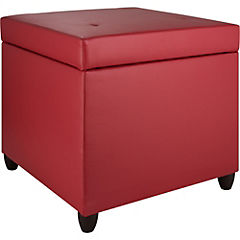 Pouf box 50x50x50 cm Master rojo