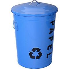 Basurero Reciclaje 49 litros azul
