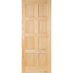 Puerta acceso pino 8 paneles 80x200 cm