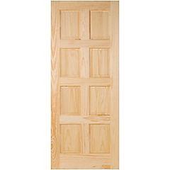 Puerta acceso pino 8 paneles 85x200 cm