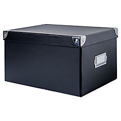 Caja escritorio negra medium