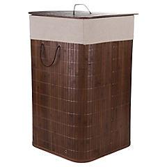 Cesto Ropa Bamboo Cafe 34x57 cm