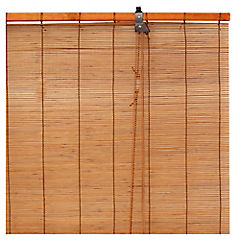 Cortina enrollable bambú madera 100x100 cm
