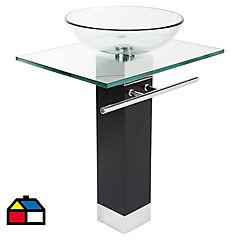 Mueble vanitorio 60x71x45 cm Transparente