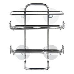 Repisa 2 niveles de ducha metálica con succión
