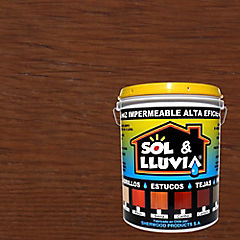 Barniz impermeabilizante semibrillante 1 gl Caoba