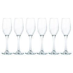Set de copas flute vidrio 170 ml 6 unidades