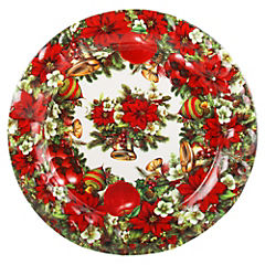 Bandeja Redonda 34,5 cm Flores