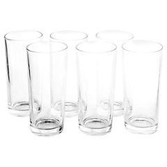 Set de vasos vidrio 6 unidades