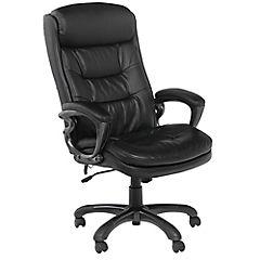 Sill n ejecutivo con masajeador negro for Sillas de escritorio sodimac