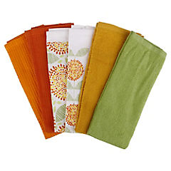 Set 6 paños cocina toalla 38x63 color