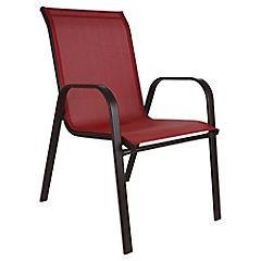 Silla Sling chocolate-rojo
