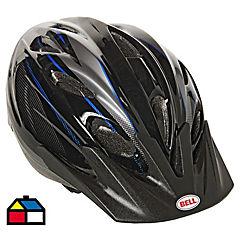 Casco para bicicleta con visera Plateado