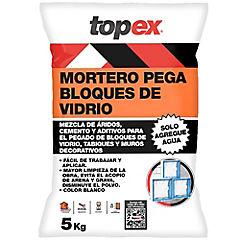Bolsa 5 kilos Topex pega bloques de vidrio