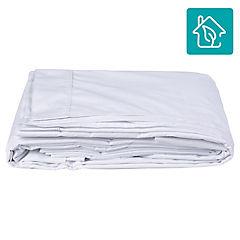 Juego de sábanas 200 hilos 1,5 plazas blanco