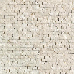 Malla Mosaico 30.5 X 30.5 cm Blanca Rústica