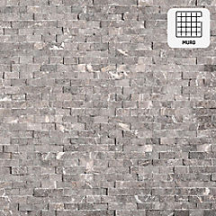 Malla Mosaico 30.5 x 30.5 cm Gris Rústico