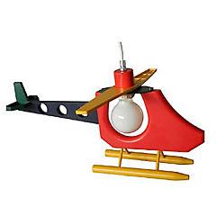 Lámpara colgante infantil 60 W Helicóptero