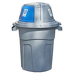 Basurero para reciclaje 100 litros Gris