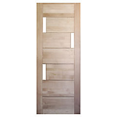 75x200 cm Puerta Lenga Mantova 3 vidrios