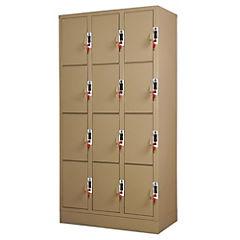 Lockers Moneda 3 cuerpos - 12 puertas, cerradura 2 llaves