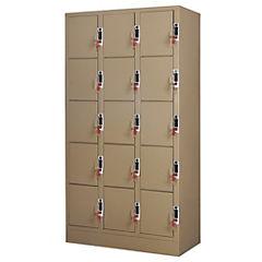 Lockers Moneda 3 cuerpos - 15 puertas, cerradura 2 llaves