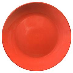 Plato Comida Redondo Rojo