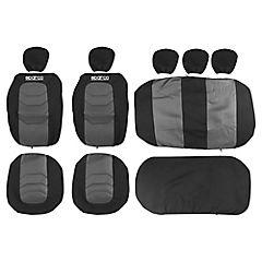 Set de fundas para asientos poliéster 11 piezas