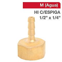 Cachimba bronce 1/2 BSP HI con espiga 1/4