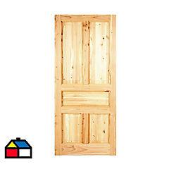 Puerta pino Oregón 130 Ranco100x220