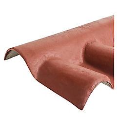 980 x 370 mm Caballete fibrocemento hembra teja Chilena Arcilla
