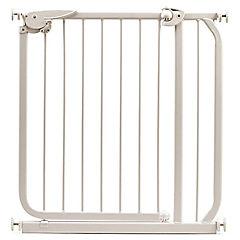 Puerta de seguridad para niños beige 70x87 cm