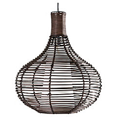 Lámpara de colgar Ratán 1 luz Chocolate