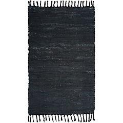 Alfombra 60x90 cm Chindi negro