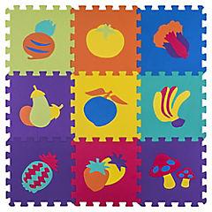 Alfombra 60x150 cm Puzzle frutas