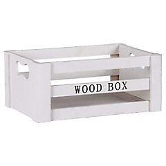 Caja decorativa 12,3x29,5 cm madera blanco