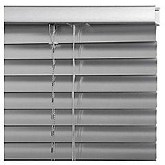 Persiana aluminio plata 100x165 cm